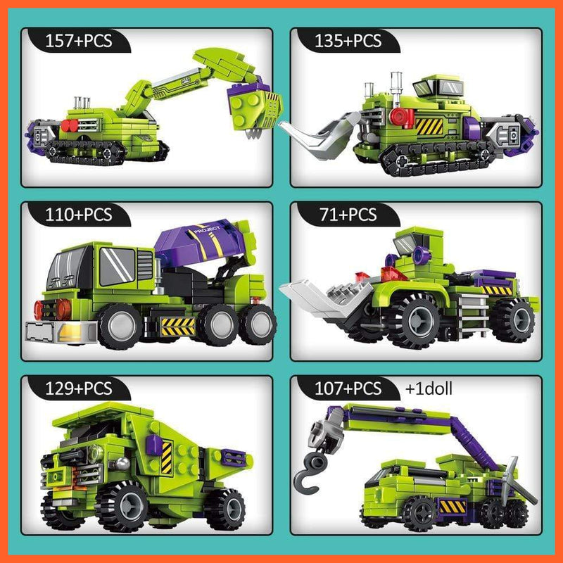 6in1 Transformation Robot Building Block and more - Various options
