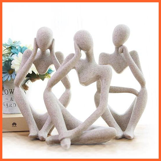 Abstract Character Sandstone Statue Sculpture