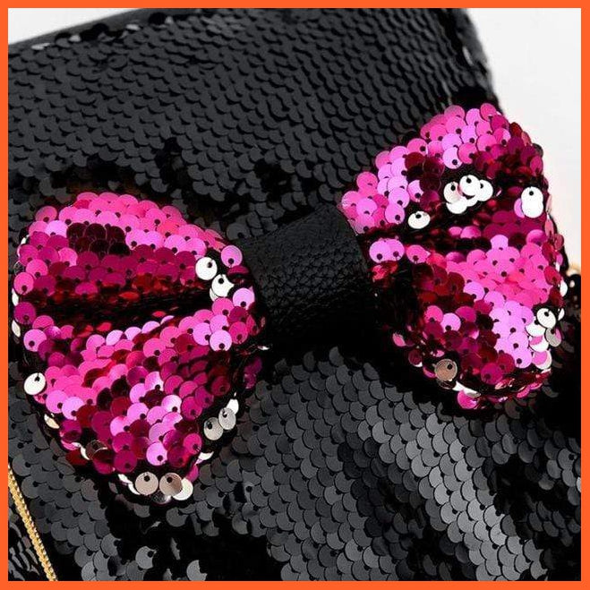 Backpack Bow Tie Small Backpack Sequins