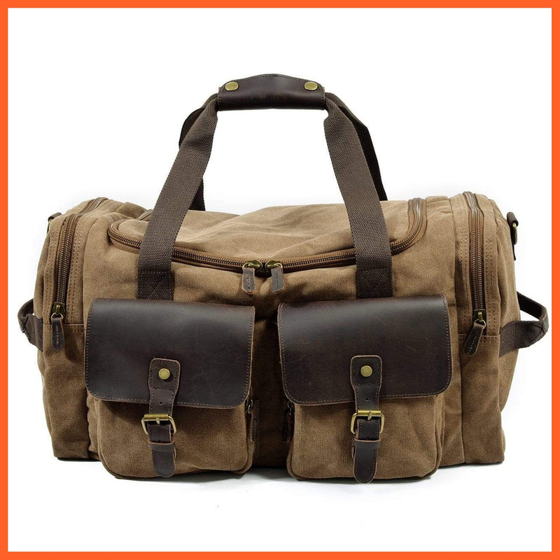 whatagift.com.au Bags & Wallets Brown Large Gym Bag | Travel Bag | Storage Bag | Mens Bags |Sports Bag