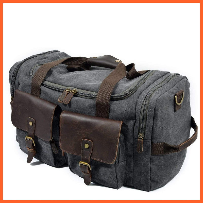 whatagift.com.au Bags & Wallets Gray Large Gym Bag | Travel Bag | Storage Bag | Mens Bags |Sports Bag