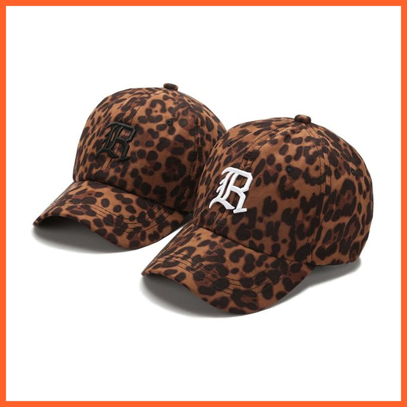 Casual Women's Leopard Printed Embroidery Baseball Caps