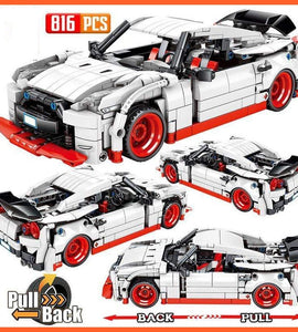 City Pull Back Extreme Speed Super Racing Car Building Blocks