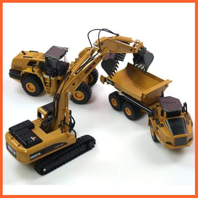 Construction Trucks Play Set - Quality Diecast Metal