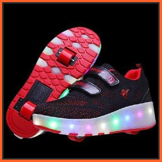 ledlegs LED Roller Shoes Dark Red