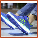 ledlegs LED Shoes Casual Single Strap Blue