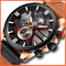 Military Waterproof Sports Watch Natural Brown