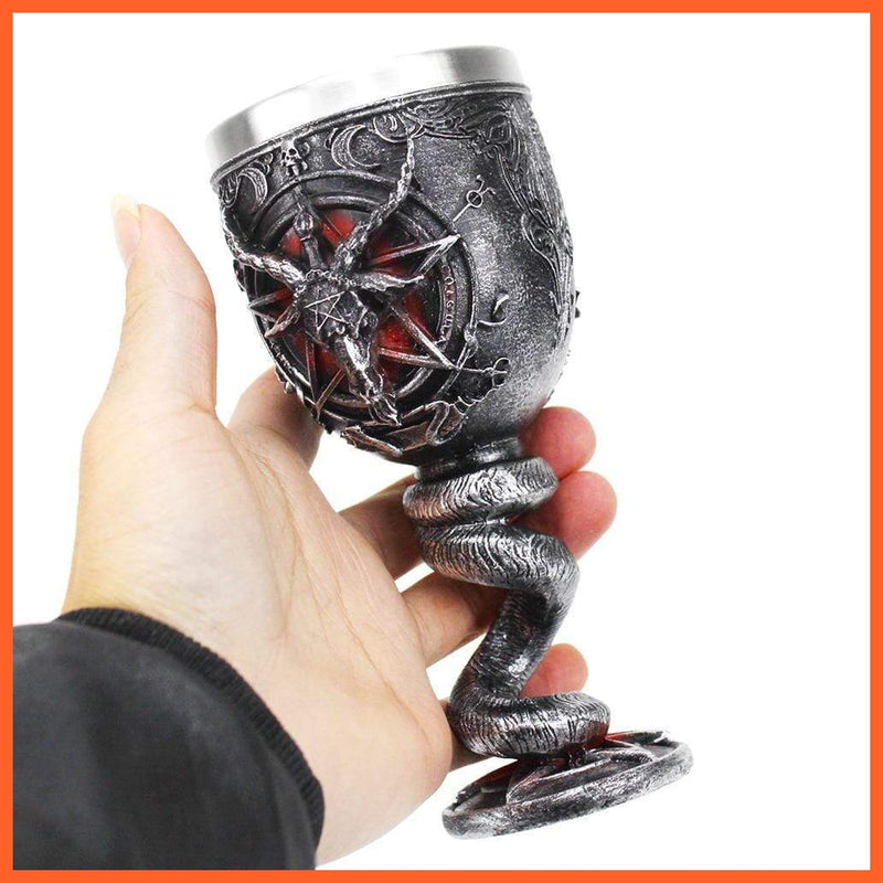 Pentagram Horn Wine Glass