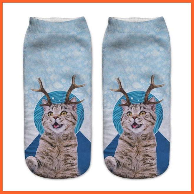 Reinder Cat Socks - 3d Prints