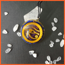 whatagift.com.au Religious Yellow  and blue Reiki Augen Energy Pendant Necklace Men and Women Career Rise Opportunity Amulet Sweater Chain