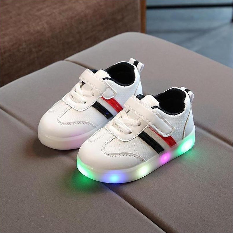 ledlegs Shoes Unisex Black / 21 Kimmy White LED Sneakers Shoes for Kids - Black & White