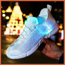 ledlegs Shoes Unisex Fiber Optic LED Shoes Design - White