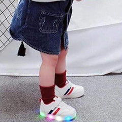 ledlegs Shoes Unisex Kimmy White LED Sneakers Shoes for Kids - Black & White