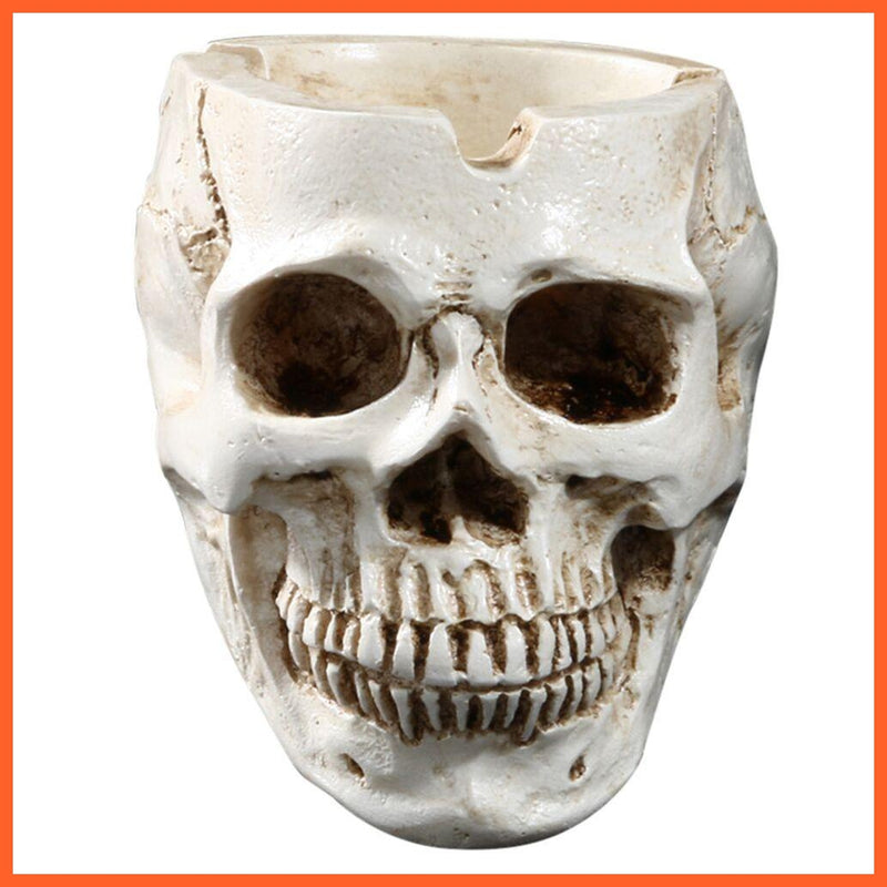 Skull Ashtray White Design