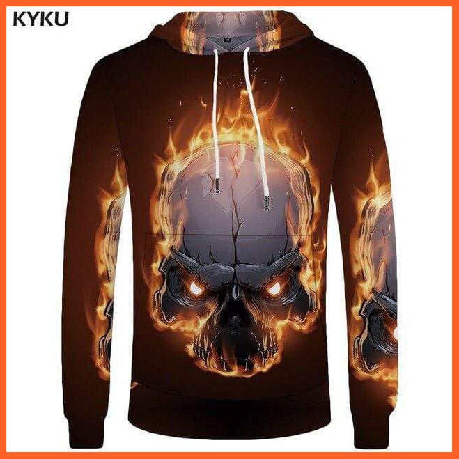 whatagift.com.au Skull Hoodie for Men