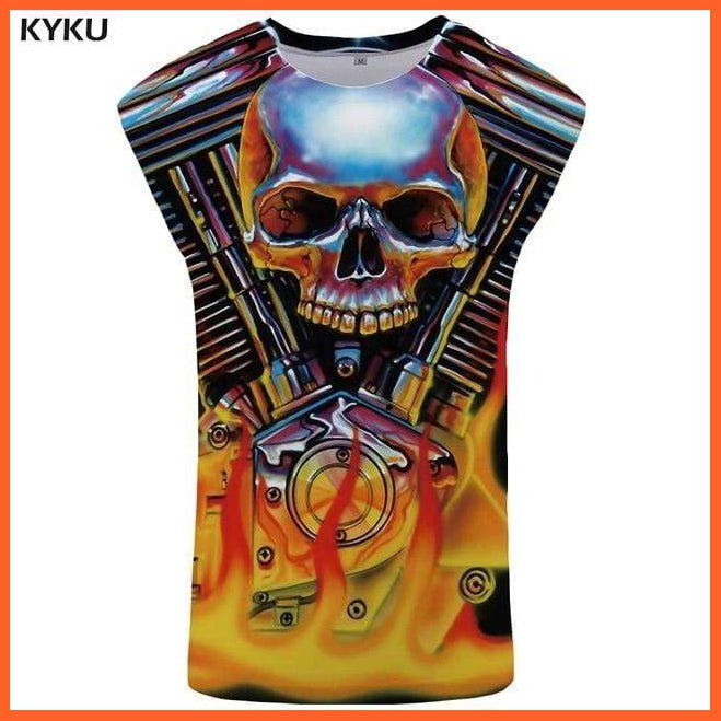 whatagift.com.au Tank Top 04 / S Skull Tank Top for Men -  Fitness Clothing - Undershirt