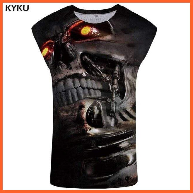 whatagift.com.au Tank Top 06 / S Skull Tank Top for Men -  Fitness Clothing - Undershirt