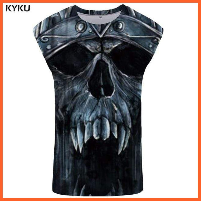 whatagift.com.au Tank Top 08 / S Skull Tank Top for Men -  Fitness Clothing - Undershirt
