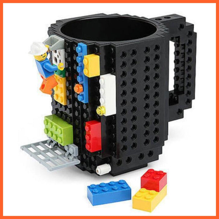 whatagift.com.au Toys Black DIY Block Puzzle Mug