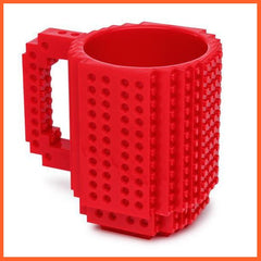 whatagift.com.au Toys Red DIY Block Puzzle Mug