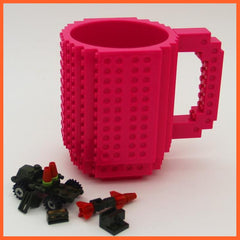 whatagift.com.au Toys Rose red DIY Block Puzzle Mug