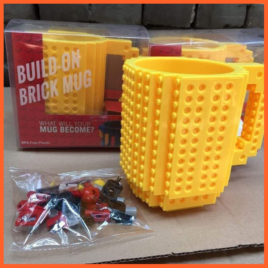 whatagift.com.au Toys Yellow DIY Block Puzzle Mug