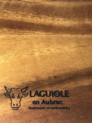 Laguiole en Aubrac Solid Acacia Wood Cheese Cutting & Serving Board, 9.75 x 7.25-in - LaguioleEnAubracShop