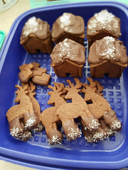 Salted Chocolate Mini Houses and Reindeer Cookies Cookie Cutter Shop