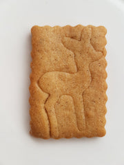 Gingerbread spiced deer butter cookie.