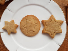 Gingerbread spiced butter cookies. simple embossed cookies.