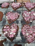 Heart with chocolate and sprinkles