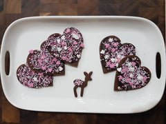Choc topped sprinkle cookies