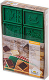 Cookie Cutter Shop Christmas Petite Poesie Set Cutter and vintage style chocolate moulds