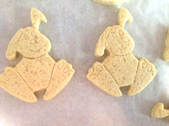 Easter Bunny cookies ready for the oven