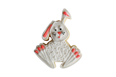 Embossed bunny decorated cookie
