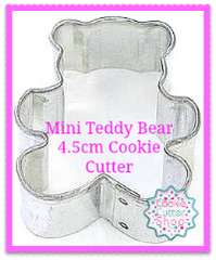 Mini Teddy Bear Cookie Cutter from Cookie Cutter Shop Australia
