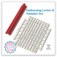 Embossing Letter and Number Set from Cookie Cutter Shop Australia