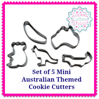 Set of 5 Mini Australian Themed Cookie Cutters from Cookie Cutter Shop Australia
