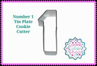 Number 1 Tin Plate Cookie Cutter from Cookie Cutter Shop Australia