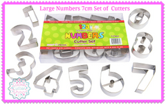 Large Numbers 7cm Cookie Cutter Set from Cookie Cutter Shop Australia