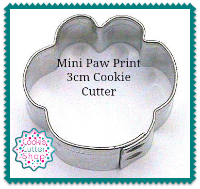 Paw Print Mini Cookie Cutter from Cookie Cutter Shop Australia