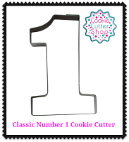 Classic Number 1 Cookie Cutter 7.2cm Stainless Steel from Cookie Cutter Shop Australia