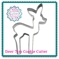 Deer 7cm Cookie Cutter from Cookie Cutter Shop Australia
