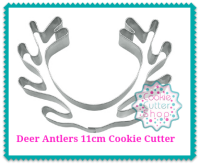 Deer Antlers 11cm Cookie Cutter from Cookie Cutter Shop Australia