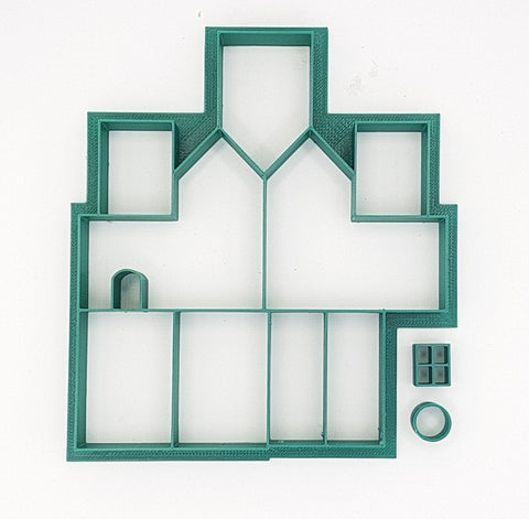 Mini Gingerbread House Two Storey Cookie Cutter-Cookie Cutter Shop Australia