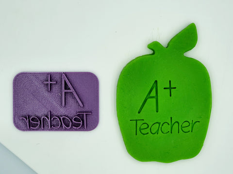 A+ Teacher Embossing Stamp