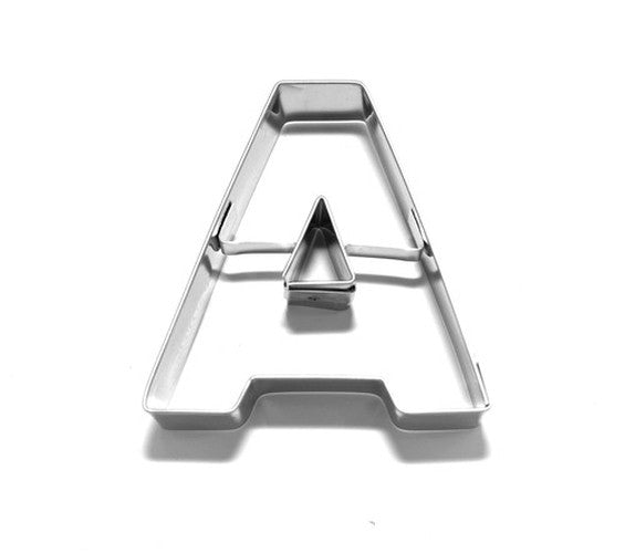 Letter A 6.5 cm Cookie Cutter Stainless Steel-Cookie Cutter Shop Australia