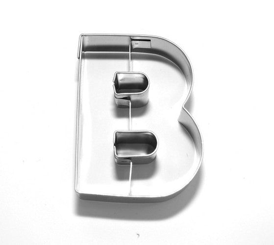 Letter B 6.5 cm Cookie Cutter Stainless Steel-Cookie Cutter Shop Australia