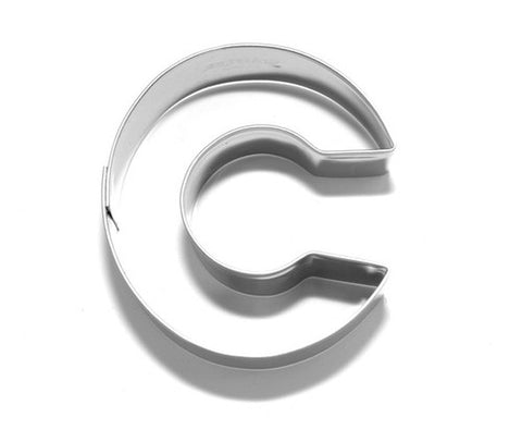 Letter C 6.5 cm Cookie Cutter Stainless Steel-Cookie Cutter Shop Australia