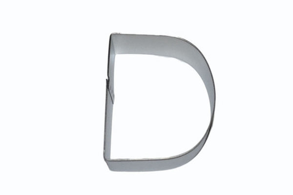 Alphabet Letter D Tin Plate 8cm Cookie Cutter-Cookie Cutter Shop Australia